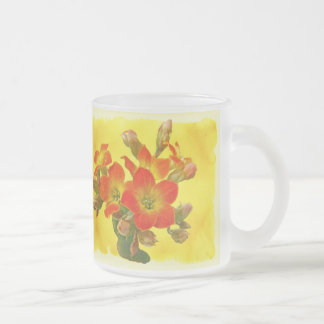 Red Kalanchoe - Succulent Sunshine 10 Oz Frosted Glass Coffee Mug