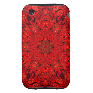 Red Kaleidoscope iPhone 3 Tough Cases