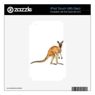 Red Kangaroo In Side View iPod Touch 4G Skin