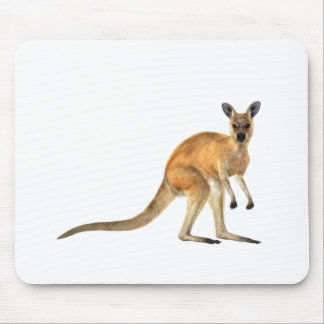 Red Kangaroo In Side View Mouse Pad