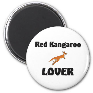 Red Kangaroo Lover Magnet