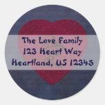 Red Kanji Love Washi Heart Sticker