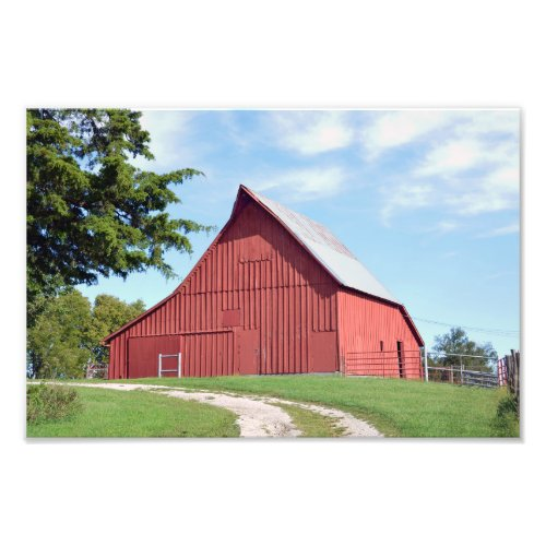 Red Kansas Barn Photo Print