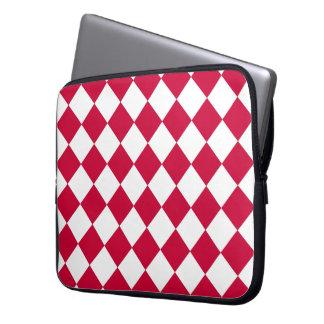 Red Karos Laptop Sleeve