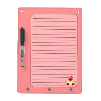 Red Kawaii Tickle Monster Dry Erase Whiteboard
