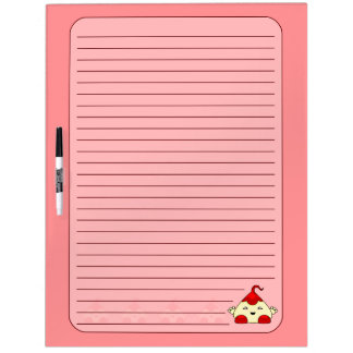 Red Kawaii Tickle Monster Dry-Erase Whiteboard