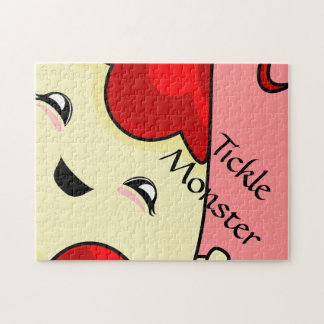 Red Kawaii Tickle Monster Jigsaw Puzzle