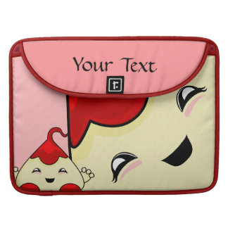 Red Kawaii Tickle Monster Sleeve For MacBooks