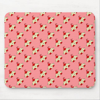 Red Kawaii Tickle Monster Mouse Pad