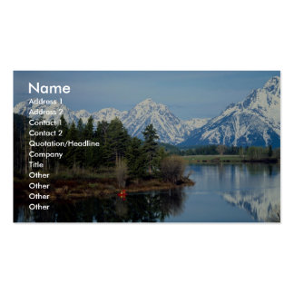 Red Kayak, Grand Teton National Park, USA Double-Sided Standard Business Cards (Pack Of 100)