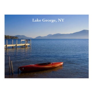 Red Kayak on Lake George, NY Postcard