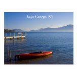 Red Kayak on Lake George, NY Postcards