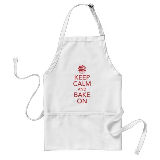 Red Keep Calm and Bake On Apron