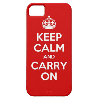Red Keep Calm and Carry On iPhone 5 Case
