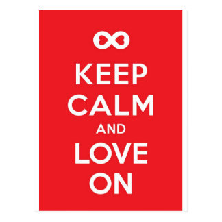 Red Keep Calm And Love On Postcard