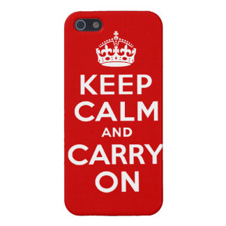 Red Keep Calm & Carry On Case Savvy iPhone 5 Case