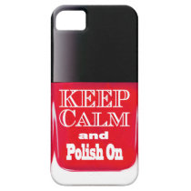 Red Keep Calm Nail Polish Bottle iPhone 5 Case