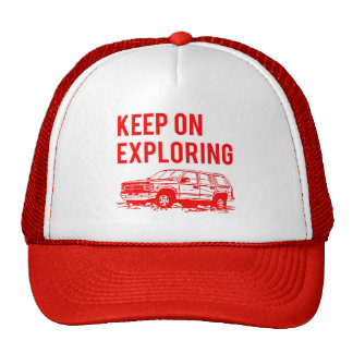 Red Keep On Exploring Hat