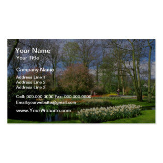Red Keukenhof Gardens, Holland flowers Business Cards
