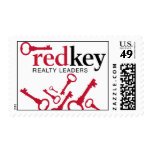 Red Key Postage Stamps