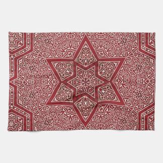 red khayameya towel