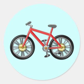 Red Kids Bike Classic Round Sticker