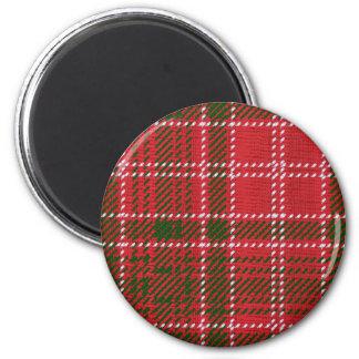 Red Kilt Tartan 2 Inch Round Magnet