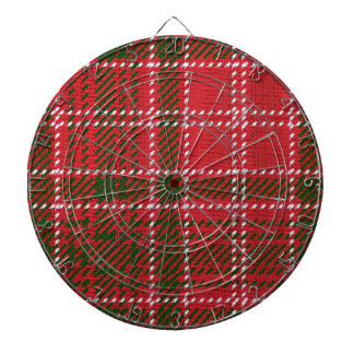 Red Kilt Tartan Dart Board