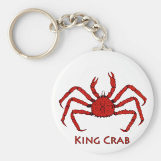Red King Crab (color illustration) Keychain