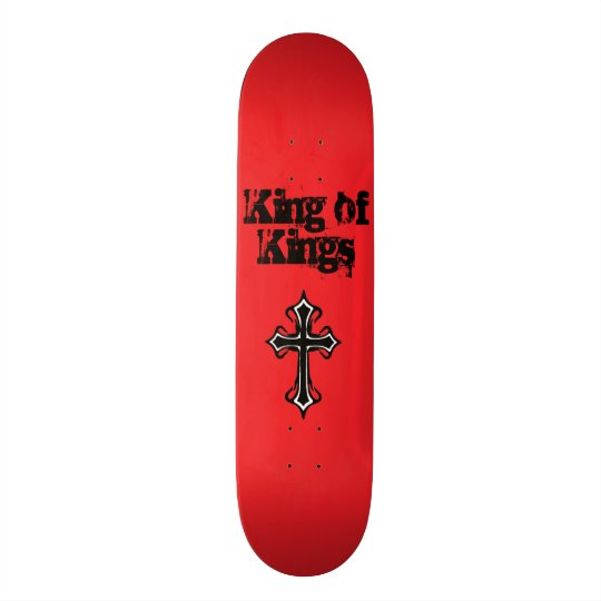 Red King of Kings Skateboard Deck