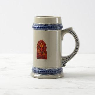 Red King Tut Beer Stein