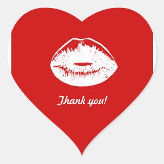 Red Kiss_1 Heart Sticker