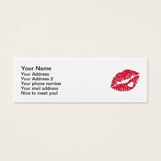 Red kiss heart mini business card