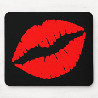 Red Kiss Mouse Pad