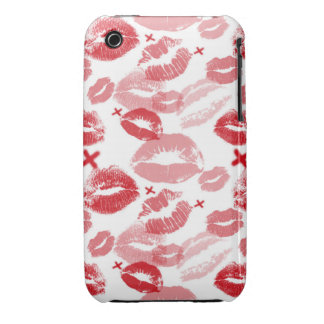 Red Kisses 3G/3GS Barely There iPhone Case