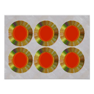 RED KISSES Bangle CostumE OVAL Disc  Decorations Poster