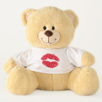 Red Kissing Lips Teddy Bear