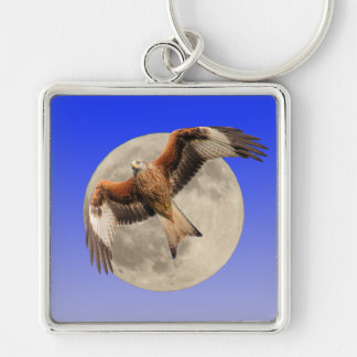 Red Kite against the Moon Keychain