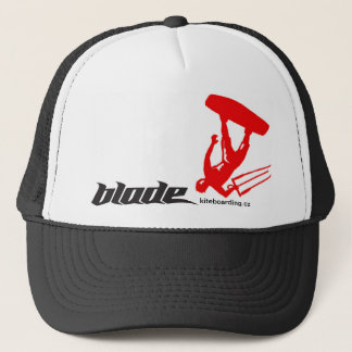RED kite blade Trucker Hat