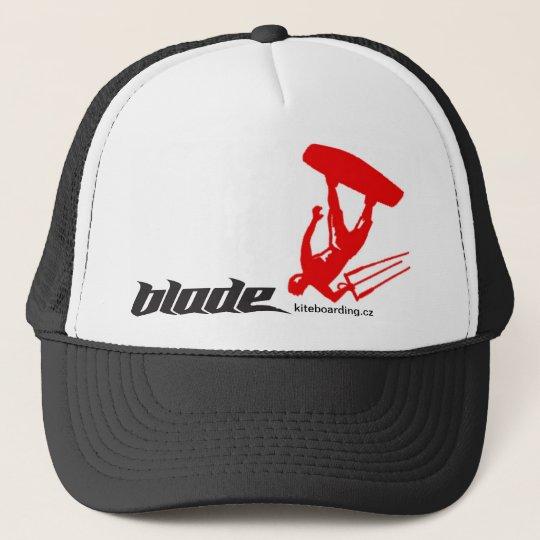 RED kite blade Trucker Hat