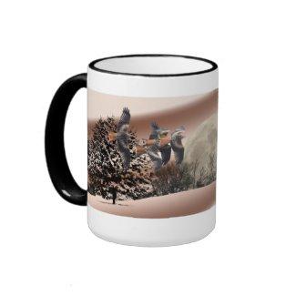Red Kite Landscape Scene Mug mug