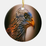 Red Kite Double-Sided Ceramic Round Christmas Ornament