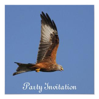 """Red Kite Party Invitation 5.25"""" Square Invitation Card"""