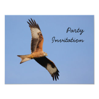 "Red Kite Party Invitation 4.25"" X 5.5"" Invitation Card"