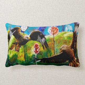 Red Kites of Wales Lumbar Pillow