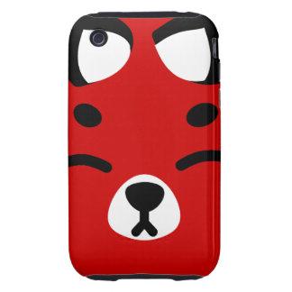 Red Kitsune Fox Tough iPhone 3 Case