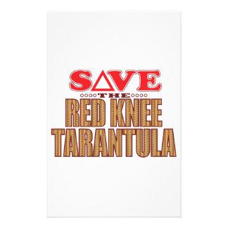 Red Knee Tarantula Save Stationery