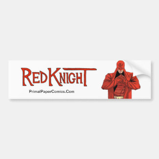 Red Knight Bumper Sticker