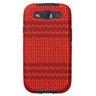 Red Knit Samsung Galaxy SIII Case