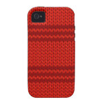 Red Knit Case-Mate iPhone 4 Covers